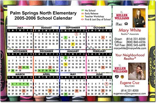 Full Color School Calendar, Calendars