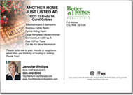 Real Estate Postcards, Better Homes & Gardens Postcard