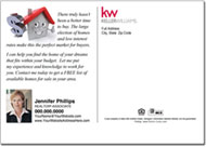Real Estate Postcards, Keller Williams Postcard
