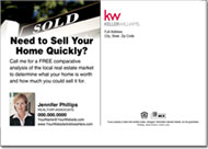 Real Estate Postcards, Keller Williams Realtor Postcard