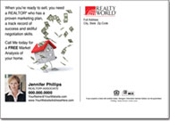 Real Estate Postcards, Realty World Postcard