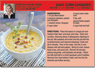 Corn Chowder Recipe Postcards