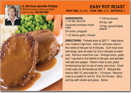 Real Estate Pot Roast Recipe Postcard