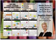 school calendar postcards