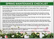 Spring Maintenance Postcard